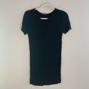 Brandy Melville Ribbed Black Mini Dress